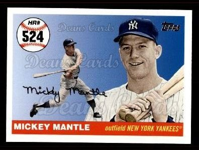 2006 Topps Mantle HR History #524   -  Mickey Mantle Home Run 524