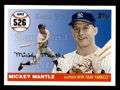2006 Topps Mantle HR History #526   -  Mickey Mantle Home Run 526