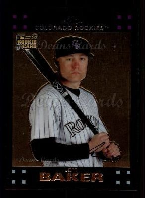 2007 Topps Chrome #329  Jeff Baker