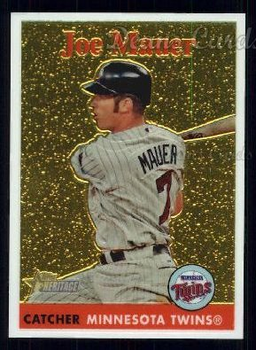 2007 Topps Heritage Chrome #105  Joe Mauer