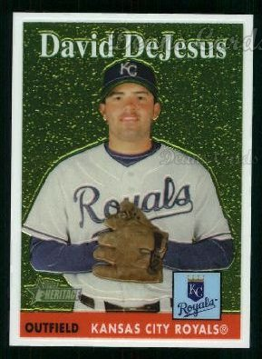2007 Topps Heritage Chrome #11  David DeJesus