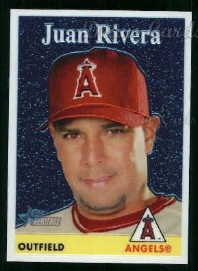 2007 Topps Heritage Chrome #26  Juan Rivera