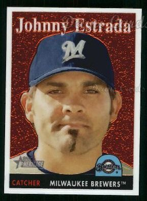 2007 Topps Heritage Chrome #27  Johnny Estrada