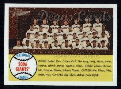 2007 Topps Heritage Chrome #3   San Francisco Giants Team