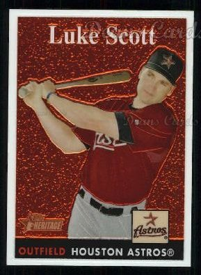 2007 Topps Heritage Chrome #36  Luke Scott