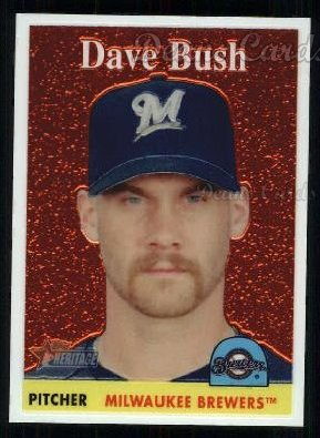 2007 Topps Heritage Chrome #38  Dave Bush