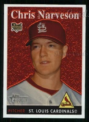 2007 Topps Heritage Chrome #63  Chris Narveson