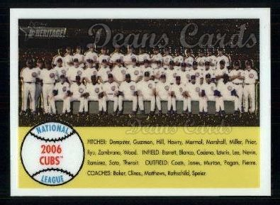 2007 Topps Heritage Chrome #92   Chicago Cubs Team