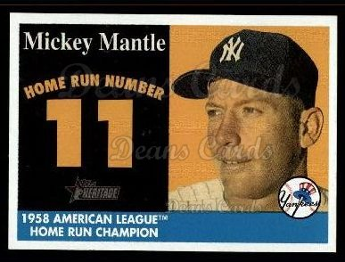 2007 Topps Heritage Mickey Mantle HR Set #11 MMHRC  -  Mickey Mantle Home Run 11