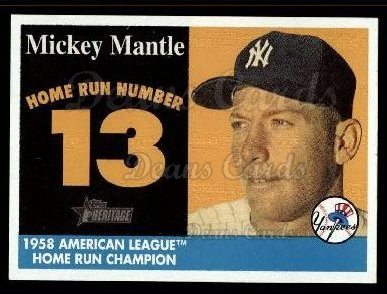 2007 Topps Heritage Mickey Mantle HR Set #13 MMHRC  -  Mickey Mantle Home Run 13