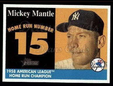 2007 Topps Heritage Mickey Mantle HR Set #15 MMHRC  -  Mickey Mantle Home Run 15