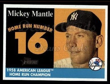 2007 Topps Heritage Mickey Mantle HR Set #16 MMHRC  -  Mickey Mantle Home Run 16