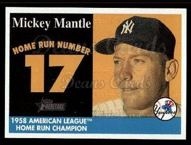 2007 Topps Heritage Mickey Mantle HR Set #17 MMHRC  -  Mickey Mantle Home Run 17