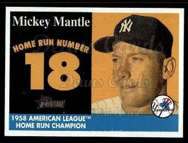 2007 Topps Heritage Mickey Mantle HR Set #18 MMHRC  -  Mickey Mantle Home Run 18