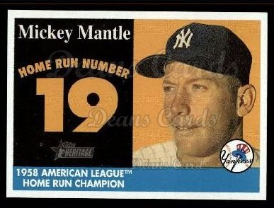 2007 Topps Heritage Mickey Mantle HR Set #19 MMHRC  -  Mickey Mantle Home Run 19