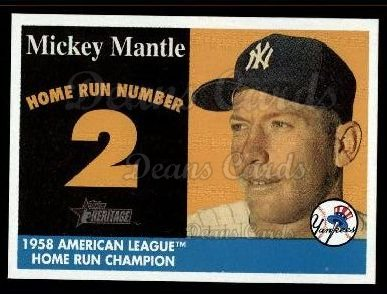 2007 Topps Heritage Mickey Mantle HR Set #2 MMHRC  -  Mickey Mantle Home Run 2