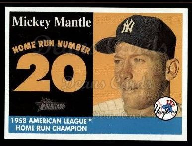 2007 Topps Heritage Mickey Mantle HR Set #20 MMHRC  -  Mickey Mantle Home Run 20