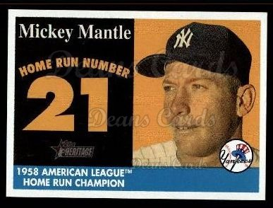 2007 Topps Heritage Mickey Mantle HR Set #21 MMHRC  -  Mickey Mantle Home Run 21