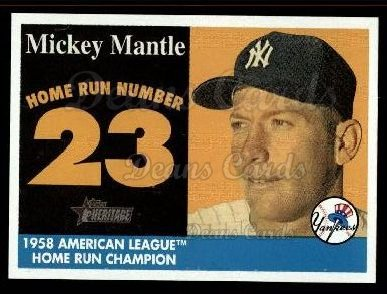 2007 Topps Heritage Mickey Mantle HR Set #23 MMHRC  -  Mickey Mantle Home Run 23