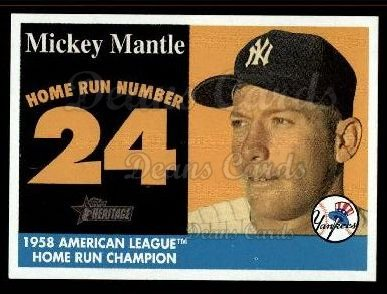 2007 Topps Heritage Mickey Mantle HR Set #24 MMHRC  -  Mickey Mantle Home Run 24