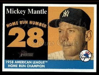 2007 Topps Heritage Mickey Mantle HR Set #28 MMHRC  -  Mickey Mantle Home Run 28