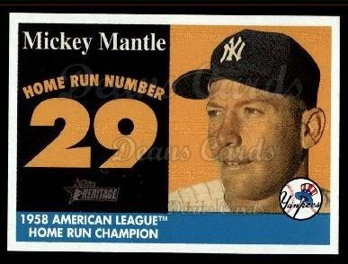 2007 Topps Heritage Mickey Mantle HR Set #29 MMHRC  -  Mickey Mantle Home Run 29