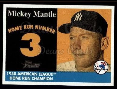 2007 Topps Heritage Mickey Mantle HR Set #3 MMHRC  -  Mickey Mantle Home Run 3