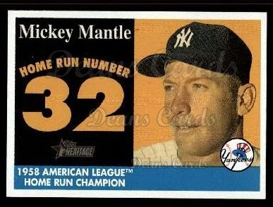 2007 Topps Heritage Mickey Mantle HR Set #32 MMHRC  -  Mickey Mantle Home Run 32