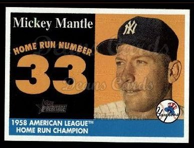 2007 Topps Heritage Mickey Mantle HR Set #33 MMHRC  -  Mickey Mantle Home Run 33