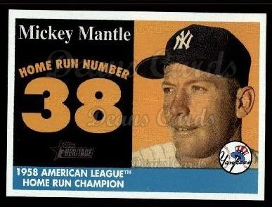2007 Topps Heritage Mickey Mantle HR Set #38 MMHRC  -  Mickey Mantle Home Run 38