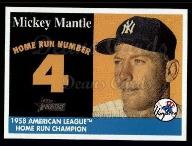 2007 Topps Heritage Mickey Mantle HR Set #4 MMHRC  -  Mickey Mantle Home Run 4