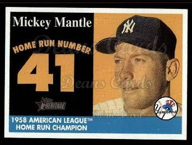 2007 Topps Heritage Mickey Mantle HR Set #41 MMHRC  -  Mickey Mantle Home Run 41