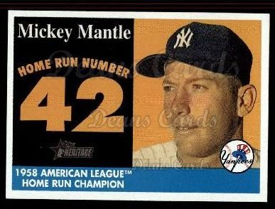 2007 Topps Heritage Mickey Mantle HR Set #42 MMHRC  -  Mickey Mantle Home Run 42