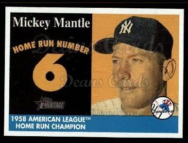 2007 Topps Heritage Mickey Mantle HR Set #6 MMHRC  -  Mickey Mantle Home Run 6