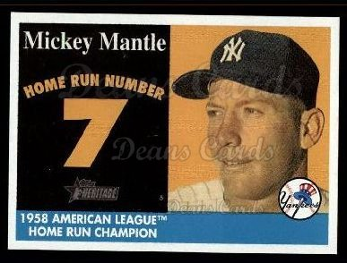 2007 Topps Heritage Mickey Mantle HR Set #7 MMHRC  -  Mickey Mantle Home Run 7