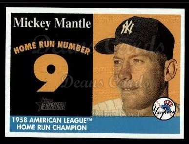 2007 Topps Heritage Mickey Mantle HR Set #9 MMHRC  -  Mickey Mantle Home Run 9
