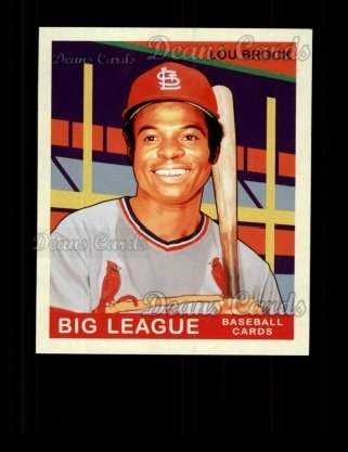 2007 Upper Deck Goudey Green Backs #218  Lou Brock