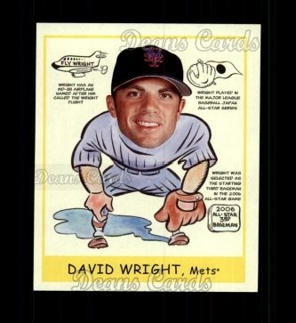 2007 Upper Deck Goudey Heads Up #284  David Wright
