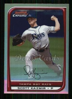 2008 Bowman Chrome Refractor #134  Scott Kazmir