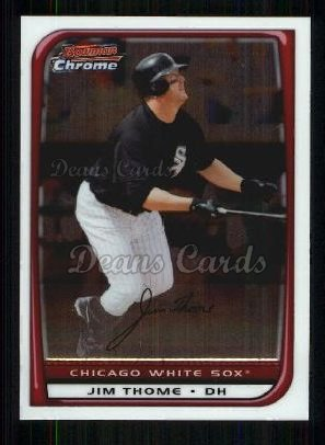 2008 Bowman Chrome Refractor #170  Jim Thome