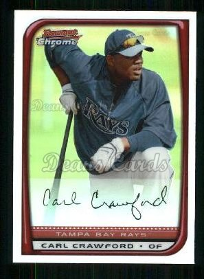 2008 Bowman Chrome Refractor #20  Carl Crawford