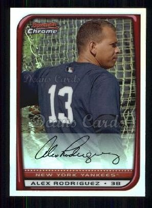 2008 Bowman Chrome Refractor #96  Alex Rodriguez
