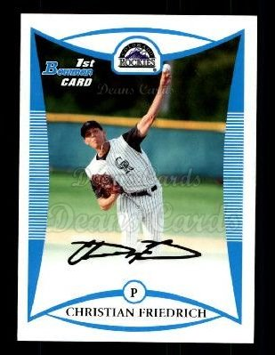 2008 Bowman Draft Prospect #31 BDPP Christian Friedrich
