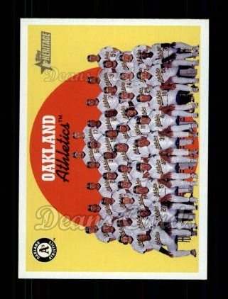 2008 Topps Heritage #172   Oakland Athletics