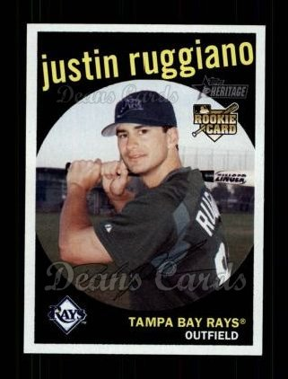 2008 Topps Heritage #253  Justin Ruggiano