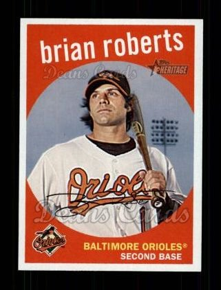2008 Topps Heritage #326  Brian Roberts