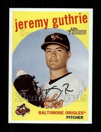 2008 Topps Heritage #384  Jeremy Guthrie