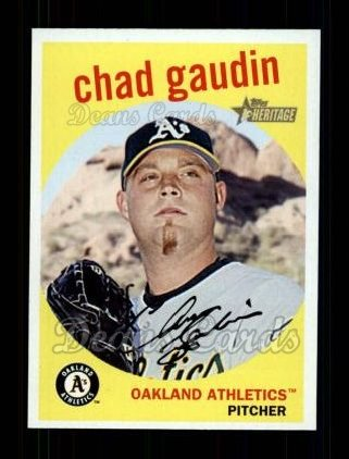 2008 Topps Heritage #401  Chad Gaudin