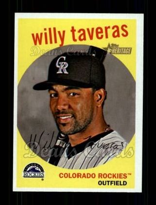 2008 Topps Heritage #449  Willy Taveras