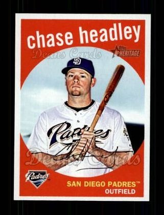 2008 Topps Heritage #505  Chase Headley